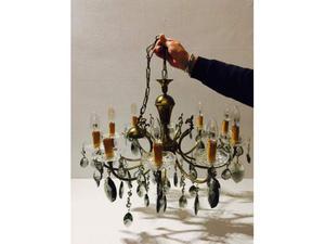 Lampadario Antico A Gocce : Lampadario antico mongolfiera gocce cristallo posot class