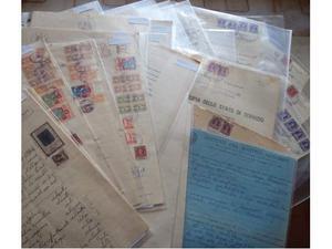Lotto di 27 documenti con 74 marche da bollo
