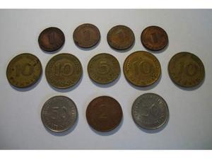 Lotto nr.12 monete Pfennig Tedeschi Deutsche Mark Germania
