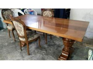 Tavolo in noce massello + 6 sedie
