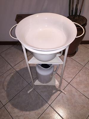 Antico set toilette d'epoca in ceramica