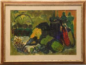 Emanuele Cappello pittore olio su tela