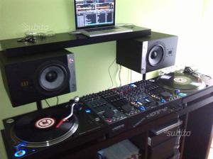 Giradischi pioneer e monitor studio eve audio