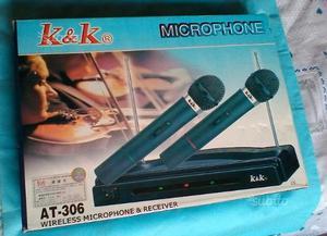 Trasmettitore Wirless con 2 microfoni