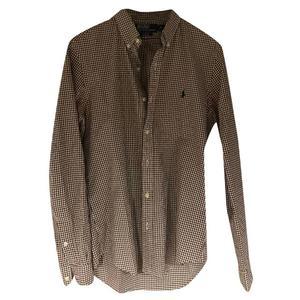 camicia ralph lauren taglia s quadretti biancomarrone