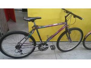 Bicicletta uomo nera fucsia bike