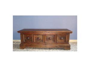 Cassapanca primi 900 stile rinascimento in legno massello