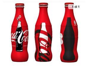 Coca cola 100 anni 3 bottiglie vetro nuove