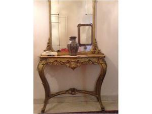 Consolle dorata stile antico con specchio posot class for Specchio stile antico