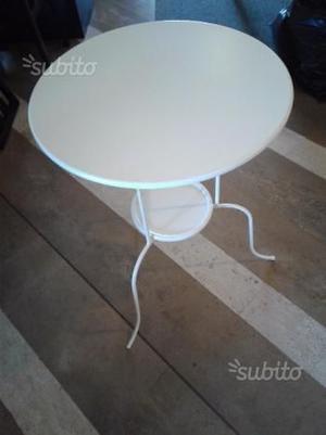 Tavolo bianco arredo in ferro