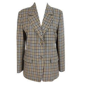 max & co vinatge wool check blazer