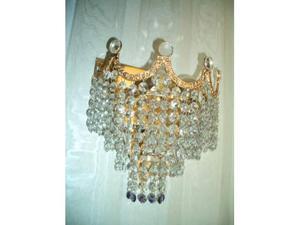Applique placcate oro con cristalli (numero 2)