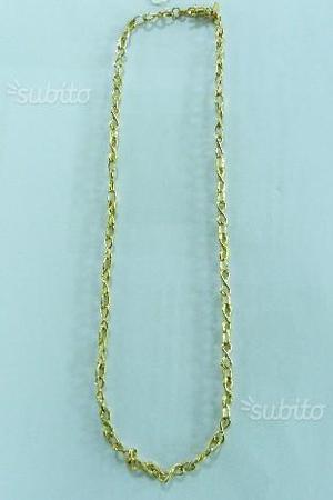 Collana oro 18 kt scritta quaglia gr