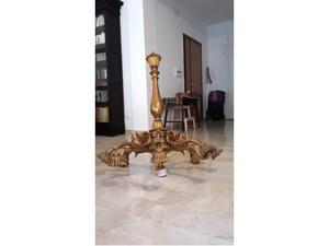 Lampadario in legno dorato a sei luci primi '900