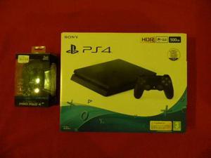 PS4 SLIM 500 GB + 2 joystick + gioco