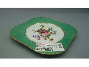 Piatto ceramica bavaria germany fiori