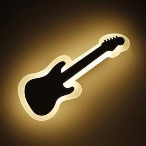 Plafoniera applique LED a forma di chitarra