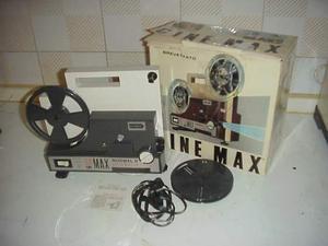 Proiettore cine max film pellicola 8mm normal 8 set completo