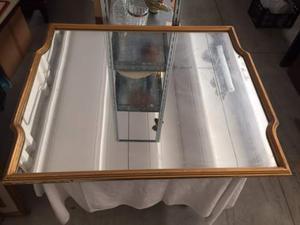 Specchio con cornice in legno