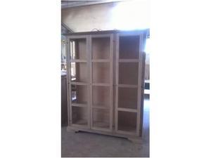 Vetrina 3 porte in legno