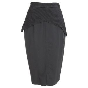 gianni versace vintage wool black skirt