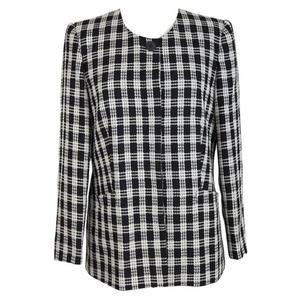 krizia vintage wool black white blazer