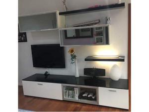 soggiorno moderno laccato bianco/nero