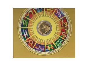 Le 500 lire segno dello zodiaco leone oro 24 kt