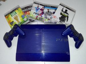 PS3 blue super slim