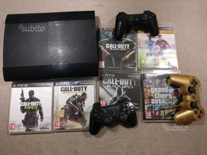 PlayStation 3 PS3 Slim con 3 controller e giochi