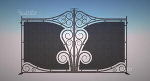 Cancello classico in stile ferro battuto