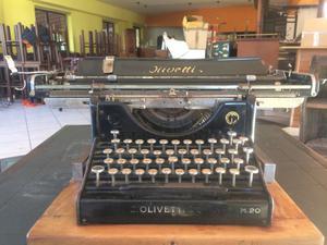 Macchina da scrivere Olivetti m20 Antica vintage prima serie
