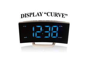 Majestic radio sveglia digitale FM LED display curvo jumbo