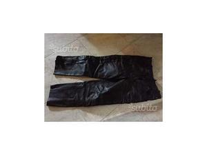 Pantaloni moto custom pelle taglia 48 uomo