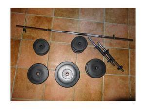Set manubri + bilanciere 30 kg