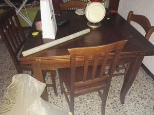 Tavolo con 4 sedie misura 100x100