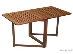 Tavolo In Teak Usato : Tavolo tondo pieghevole da giardino varo in teak posot class