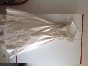 Vestito da sposa color avorio nuovo con perline e strass