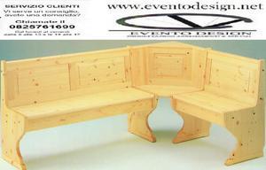 giropanca componibile in legno di pino massello in pino