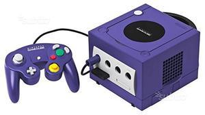 Gamecube silver e gamecube viola con accessori