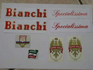 Kit adesivi per bici da corsa vintage, Bianchi Specialissima