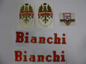 Kit adesivi per bici da corsa vintage Bianchi campione del