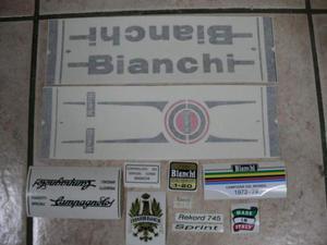 Kit adesivi per bici da corsa vintage, Bianchi rekord 745