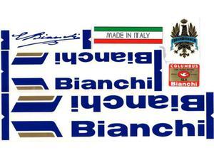 Kit adesivi per bici da corsa vintage Bianchi specialissima