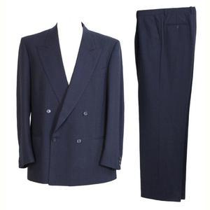 valentino vintage blue wool suit dress men's