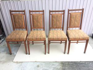 4 sedie antiche primi 900 stile liberty