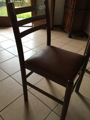 2 sedie in legno e velluto imbottite anni 50 euro posot for Sedie in velluto