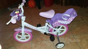 Bicicletta bambina 3-5 anni con rotelle laterali