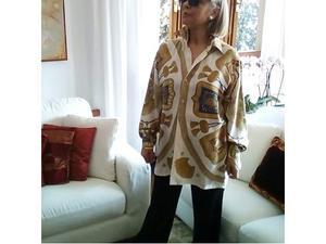 Camicia seta vintage Hermes