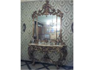Consolle con specchiera stile Luigi XV